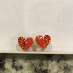 Marc Jacobs Red Heart Earings